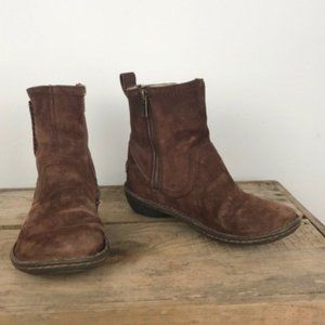 UGG leather suede brown ankle boots sz 6